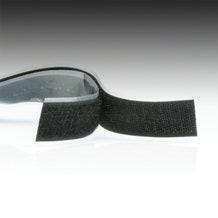 "1"" Black Hook and Loop Adhesive Backed Material"
