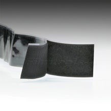 "2"" Black Hook and Loop Adhesive Backed Material"
