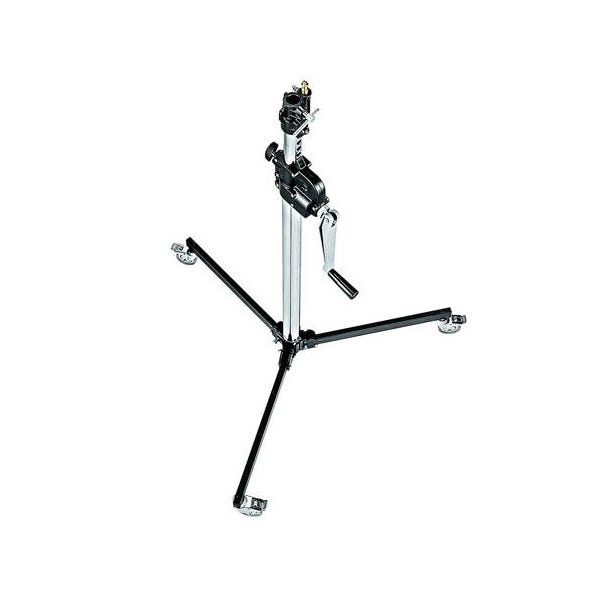Manfrotto Low Base 2-Section Wind Up Stand with Braked Wheels - 6'
