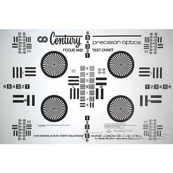 Century Precision Optics Lens Chart Kit (Large + Small) TC-KT00