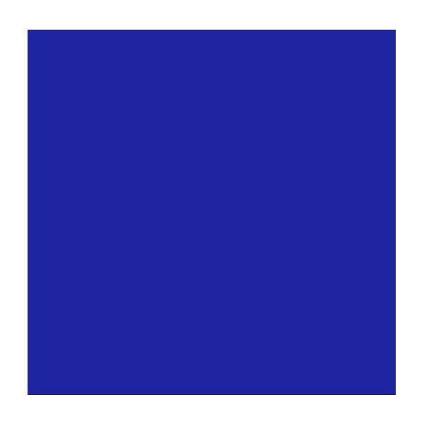 "Rosco Roscolux 80 20 x 24"" Roll - Primary Blue"