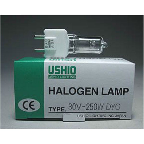 Ushio DYG JCD30V-250WS Halogen Incandescent Projector Light Bulb (250W/30V)