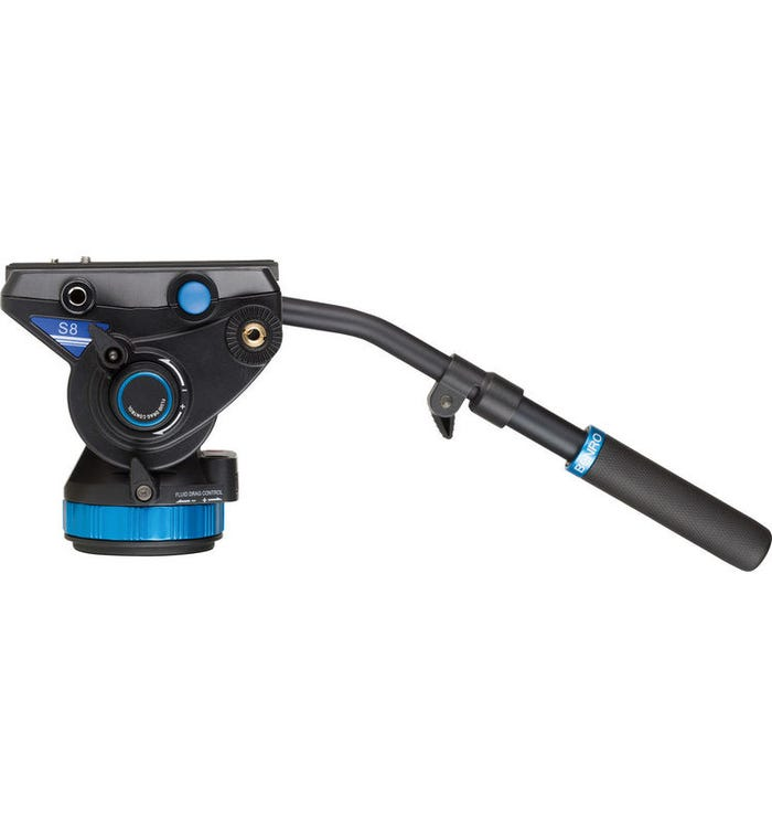 Benro S8 Video Head w/ Flat Base (3/8-16 Female Threaded Base)