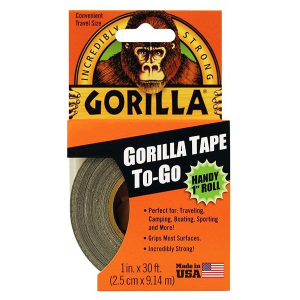 "Gorilla 1"" Duct Tape - Black"