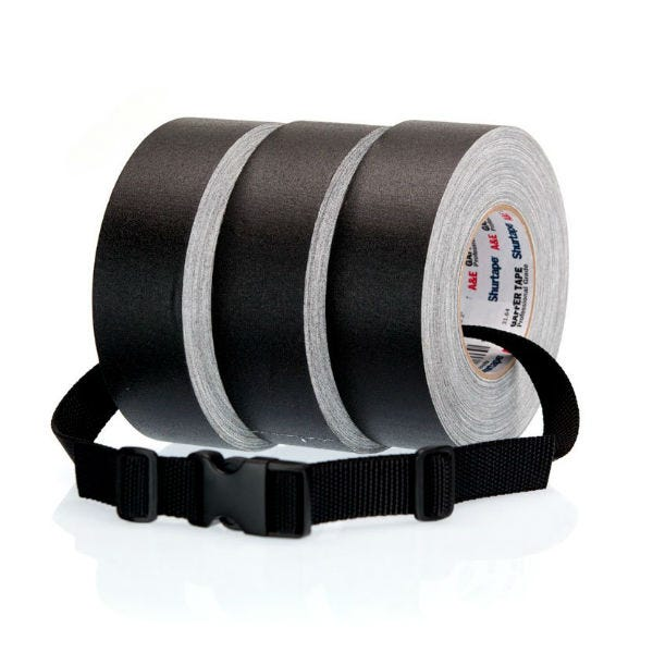 "Cold Weather Gaff Tape 3-Pack w/ Gaff Tape Strap Bundle - 2"" x 180 Feet"