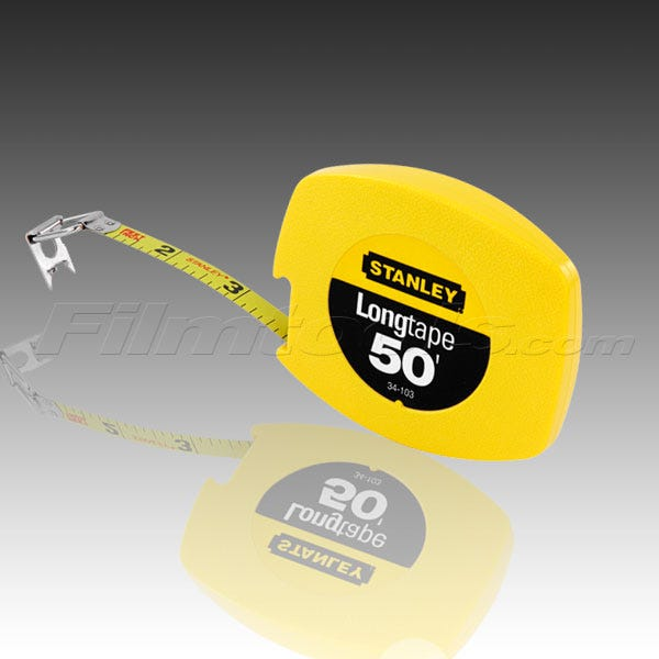 "Stanley 34-103 50ft. x 3/8"" Longtape Steel Measuring Tape"