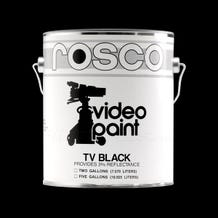 Rosco Black TV Paint - 1 Gallon (Ground Only), Mfr #: 150057400128