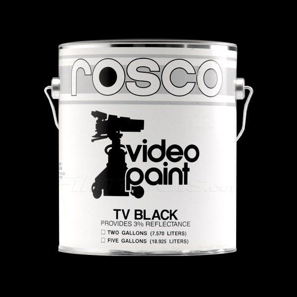 Rosco Black TV Paint - 1 Gallon (Ground Only), Mfr #: 150057400128