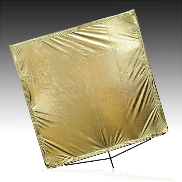 "Matthews Studio Equipment 169199 48x48"" Road Flag Fabric - Gold Lame"