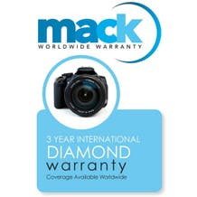Mack Warranty 3 Year Diamond Service Contract on Cameras, Lenses and Lighting Under $3000