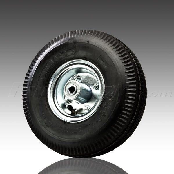 """10""""  Replacement Pneumatic Tube-Type Tire and Hub for Casters"""