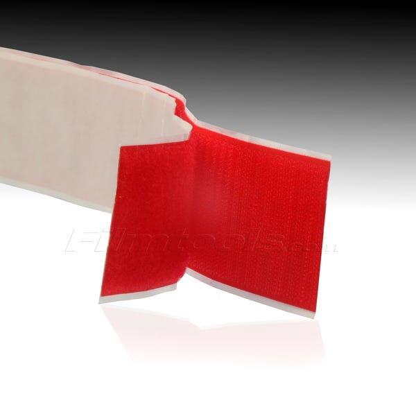 """2"""" Adhesive Backed Hook and Loop - Red R2007L - R2007H"""