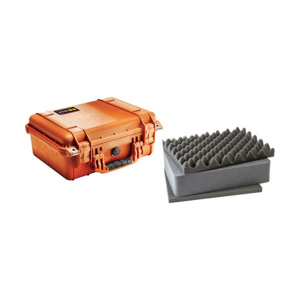 Pelican 1450 Case with Foam - Orange