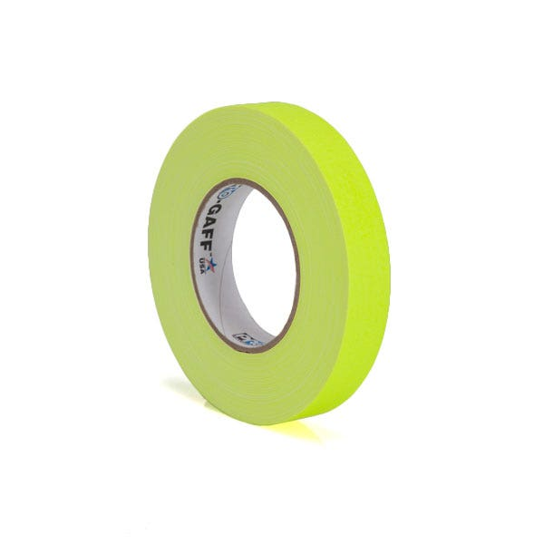 "Pro-Gaff 1"" Gaffer Tape (Camera Tape) - Fluorescent Yellow"