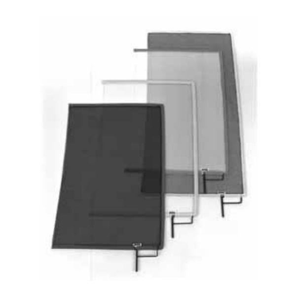 """Matthews Studio Equipment 24"""" x 36"""" Double Open-End Scrim - Black 149064"""