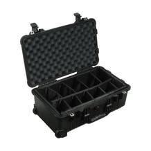 Pelican 1504 Waterproof 1500 Case with Padded Black Dividers - Black
