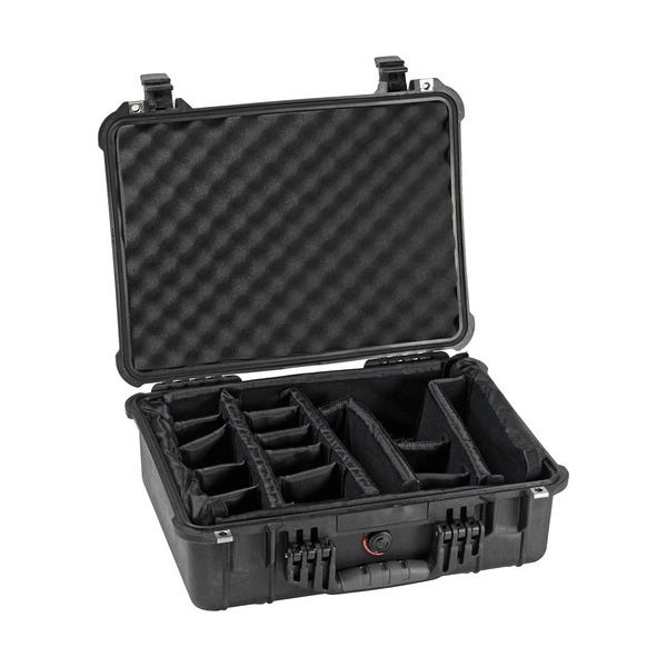 Pelican 1524 Waterproof 1520 Case with Padded Dividers - Black