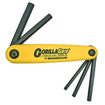 Bondhus GorillaGrip  American 5-Piece Hex Set (3/16-3/8) Large