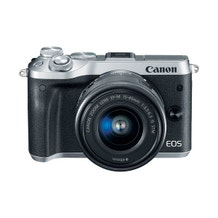 Canon EOS M6 Mirrorless Digital Camera with 15-45mm Lens - Silver