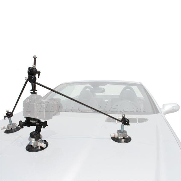 "Filmtools 3025 Jr. 4.5"" Suction Cup Camera Mount w/ Triangulation Kit Bundle"