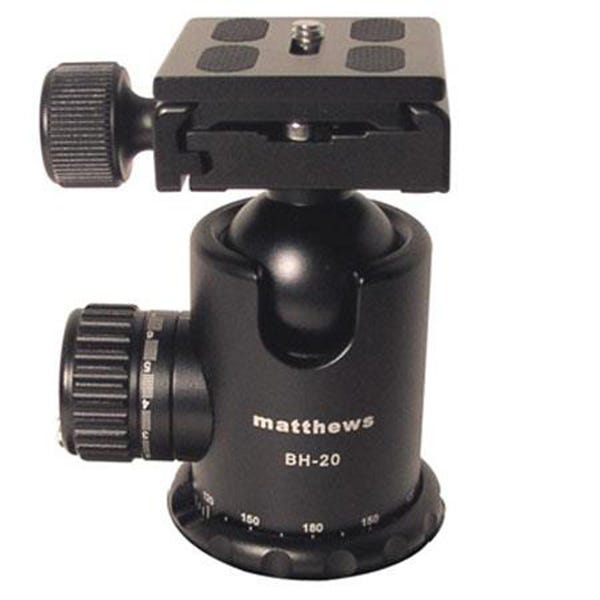Matthews Studio Equipment BH-20 Ball Head with Quick Release Plate