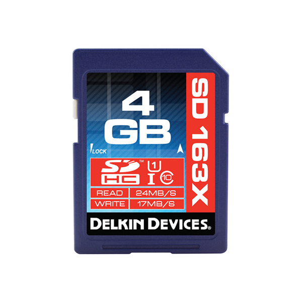 Delkin Devices 4GB SDHC Memory Card Pro Class 10