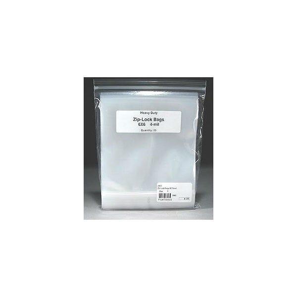 "Filmtools 6 x 6"" 4-Mil Polyethylene Recloseable Bags - 25 Count"