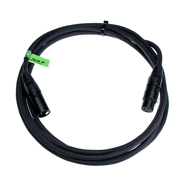 Bescor 4-Pin XLR Female to 4-Pin XLR  Male 10' Cable XLR-10MF