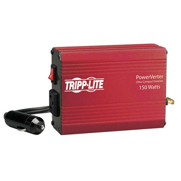 Tripp Lite 150W PowerVerter Ultra-Compact Car Inverter, with 1 Outlet