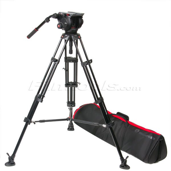 Manfrotto 509HD,545BK 509HD Video Head with 545B Tripod Legs, Mid-spreader and Padded Bag