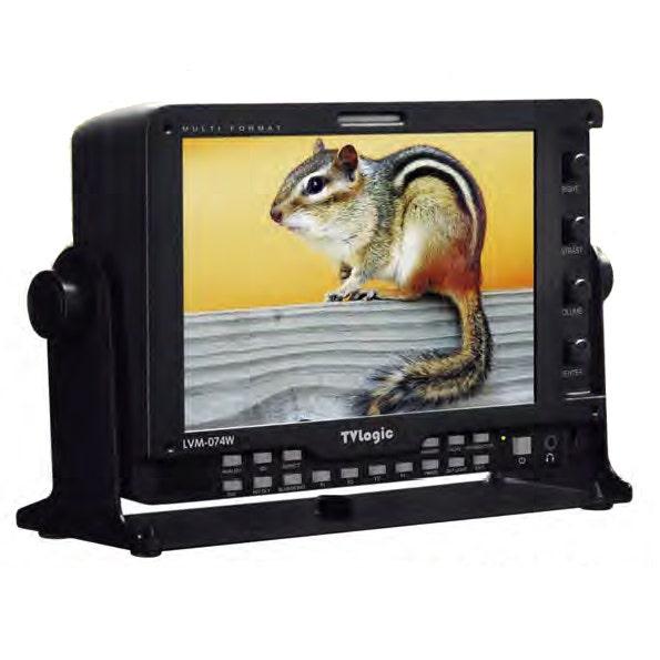 "TV Logic 7"" HD LED Backlit LCD Monitor w/ HDMI to SDI Loop Through LVM-074W"