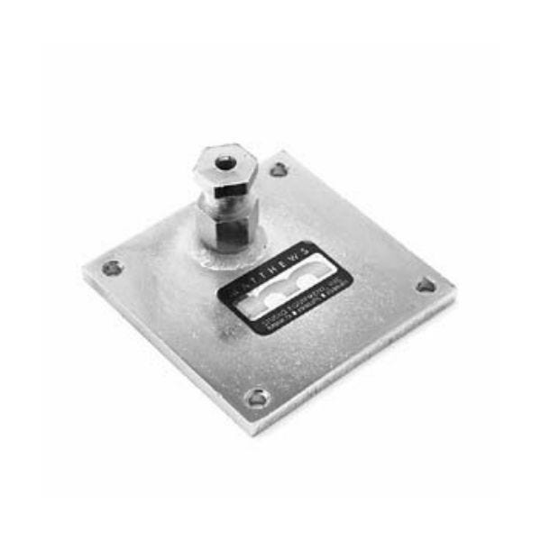 """Matthews Studio Equipment 209638 4x4"""" Mounting Plate with Welded Snap In Pin"""
