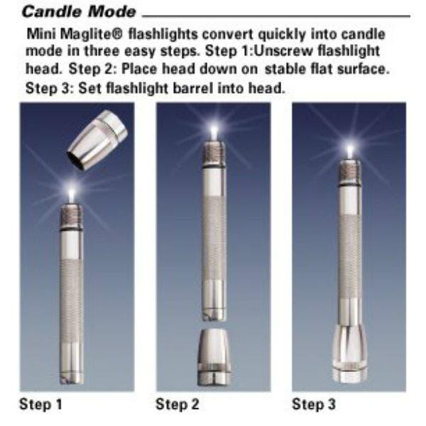 Mini Maglite® 21-M2A01H 2-Cell AA Xenon Flashlight (Black)