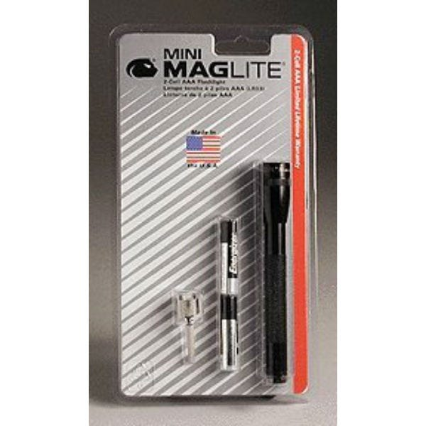 Mini Maglite® 2-Cell AAA Flashlight (Black)