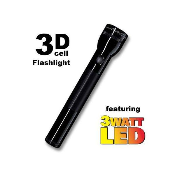 Maglite® 21-ST3D016 3-D Cell LED Flashlight - Black
