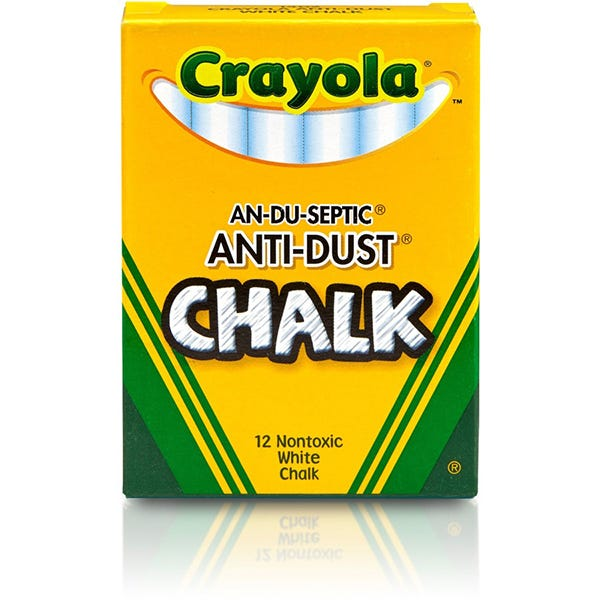 Crayola Anti-Dust White Chalk 12-Pack