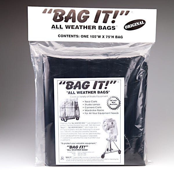 "BAG IT! 105 x 75"" 6-Mil Visqueen Bags/Tarps/Rain Covers - Large, Black"