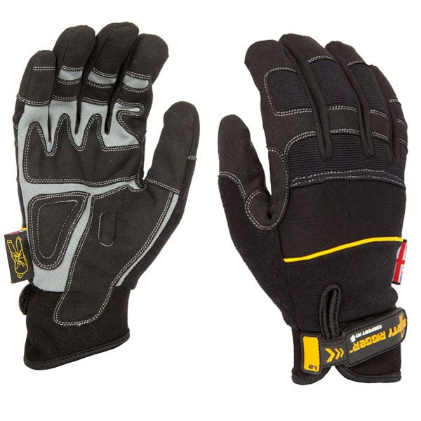 Dirty Rigger Black Comfort Fit Gloves - Large