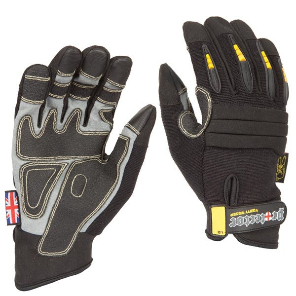 Dirty Rigger Black Protector Gloves - Large