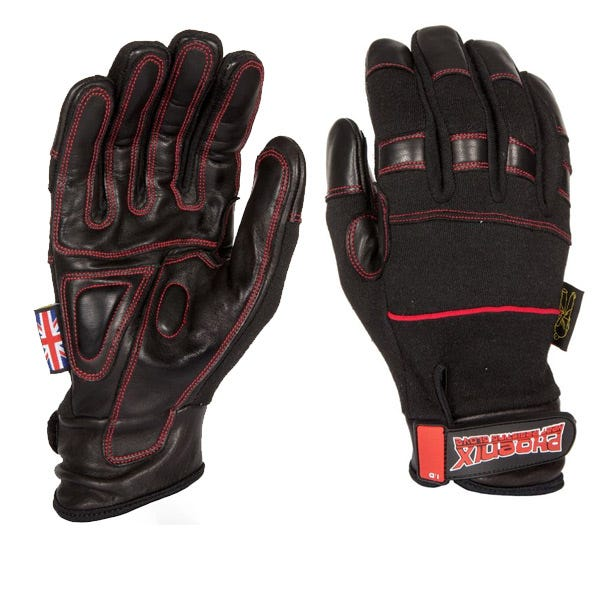 Dirty Rigger Black Phoenix Heat Resistant Gloves - Large