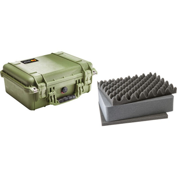 Pelican 1450 Case with Foam - Olive Drab