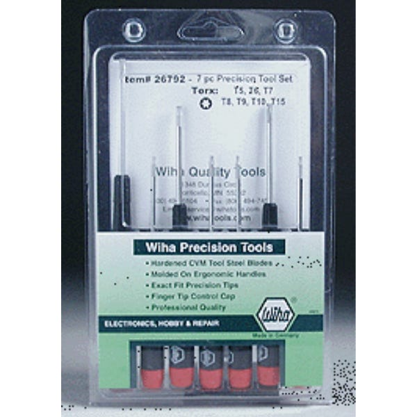 Wiha Precision 7 Piece Torx Set #26792