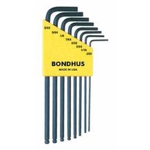 Bondhus 10932 : 8 Piece Ball Driver set. .050-9/64 (Inch set)