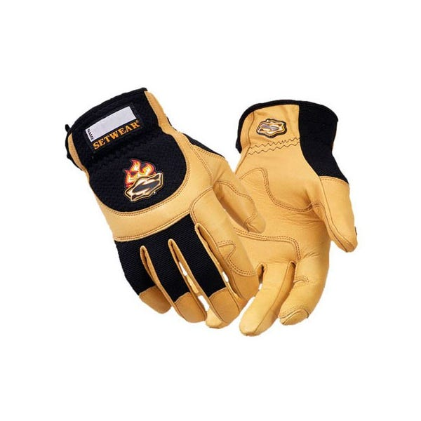 Setwear Pro Tan Leather Gloves - Small
