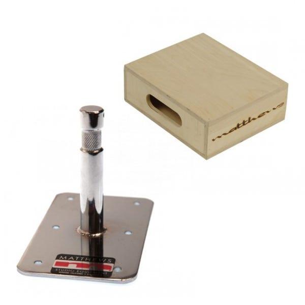 "Matthews Studio Equipment Half Mini Apple Box w/ Baby Plate - 3"""