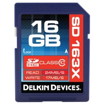 Delkin PRO3 16GB SD Card Class 10 163X DDSDPRO3-16GB