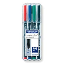 Staedtler Fine Point Lumocolor Non-Permanent Marker Set - 4 Colors