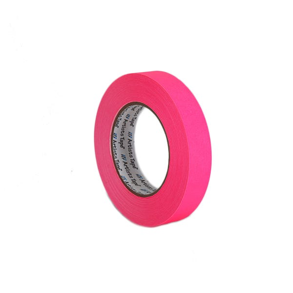 """ProTapes 1"""" Artist's Paper Tape - Fluorescent Pink"""
