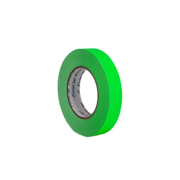 "ProTapes 1"" Artist's Paper Tape - Fluorescent Green"