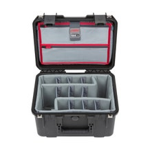 SKB iSeries 1510-9 Waterproof Utility Case with Foam Dividers and Lid Organizer (Black)